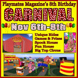 playmates 8th birthday carnival promo